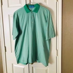 Men's green & white fairway &Greene golf shirt